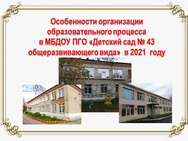 Организация образовательного процесса в ДОУ в 2021 году
